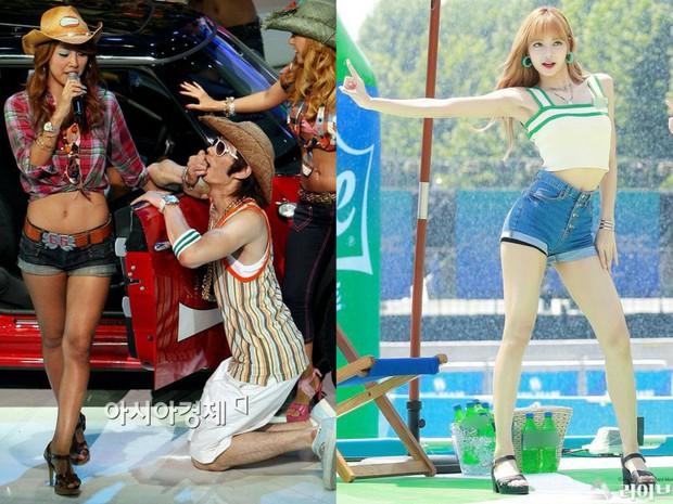 Các cặp mỹ nhân Hàn có cùng chiều cao nhưng tỷ lệ cơ thể trái ngược: Lee Hyori đọ với Lisa, nữ thần Eugene sốc nhất - Ảnh 3.