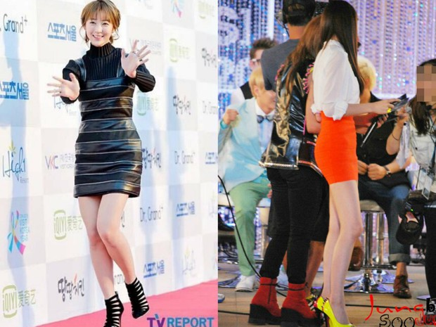 Các cặp mỹ nhân Hàn có cùng chiều cao nhưng tỷ lệ cơ thể trái ngược: Lee Hyori đọ với Lisa, nữ thần Eugene sốc nhất - Ảnh 5.
