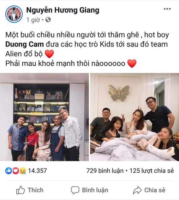 Hương Giang bất ngờ gặp chấn thương, Dương Cầm dẫn đầu gia đình hoàng gia tới ghé thăm người đẹp - Ảnh 1.