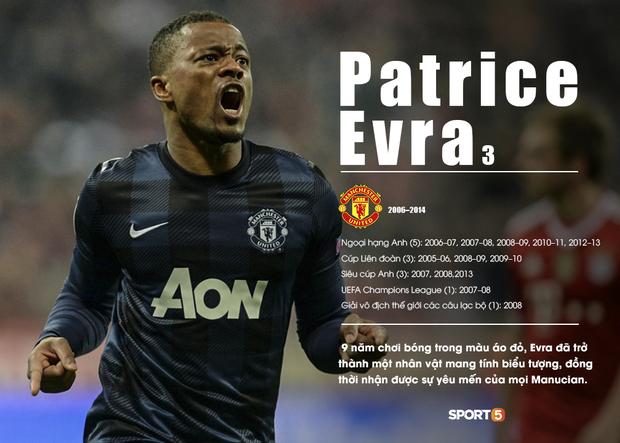 Patrice Evra có những năm tháng đỉnh cao sự nghiệp tại MU
