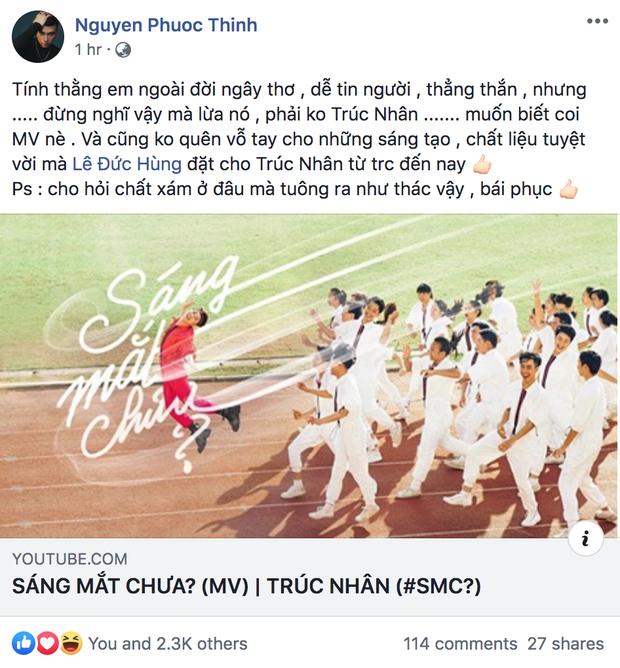 Làm MV đam mỹ trá hình quá khéo, Noo Phước Thịnh, Tóc Tiên và dân mạng khiến Trúc Nhân sáng mắt vì được khen hết lời - Ảnh 2.