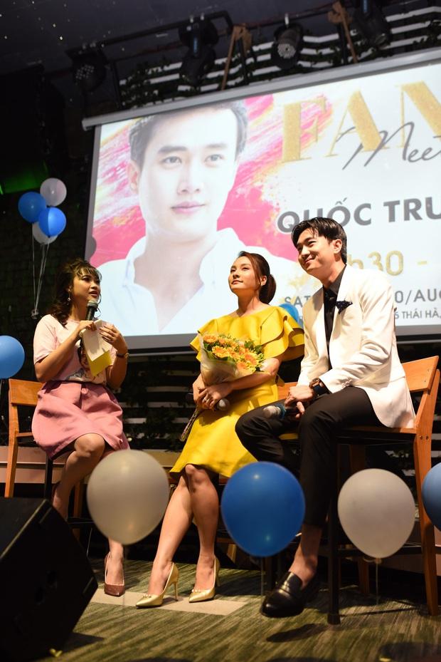 Diện vest trắng bảnh bao, Quốc Trường song ca cực ngọt cùng Bảo Thanh trong buổi offline đầu tiên tại Hà Nội - Ảnh 4.