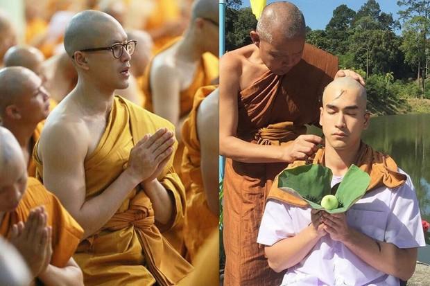 Dàn nam thần Thái siêu hot xuống tóc đi tu báo hiếu cha mẹ: Thay đổi ngoạn mục, gây sốt vì ngoại hình tự nhiên - Ảnh 12.