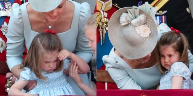 Công chúa Charlotte lè lưỡi trêu ngươi đám đông, cách Kate Middleton xử trí khiến nhiều người thán phục - Ảnh 5.