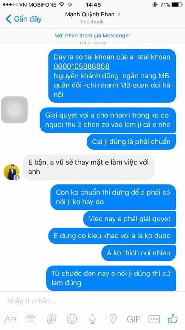 Phan Mạnh Quỳnh lên tiếng sau ồn ào bị tố quỵt tiền, vô ơn: Người tố tôi có vấn đề về thần kinh vì từng đánh DJ, oxin... - Ảnh 3.