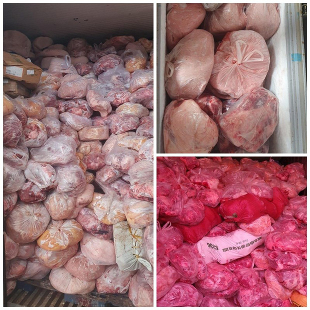 40 tấn thịt heo, gà không rõ nguồn gốc tại cơ sở làm giò chả - Ảnh 1.