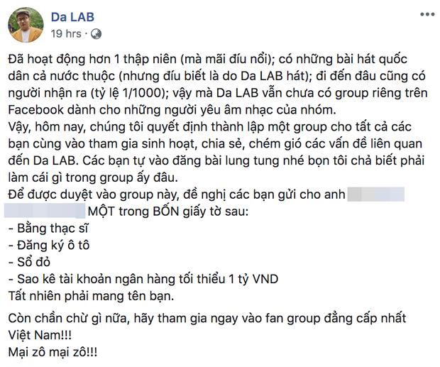 Da LAB ra điều kiện để fan vào group đậm mùi cà khịa, Thiên An - nữ chính của Jack - đọc xong chắc chắn nhột - Ảnh 1.
