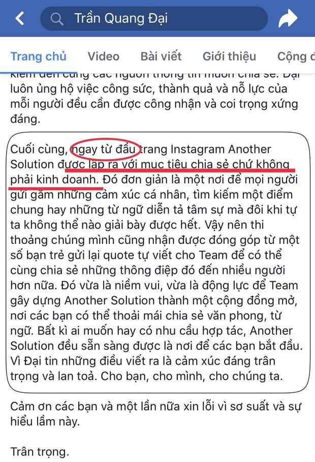 Update biến căng Quang Đại bị mượn văn vẻ người khác: Thêm bằng chứng anh chàng nói dối chuyện kinh doanh, lấp liếm cho qua - Ảnh 5.