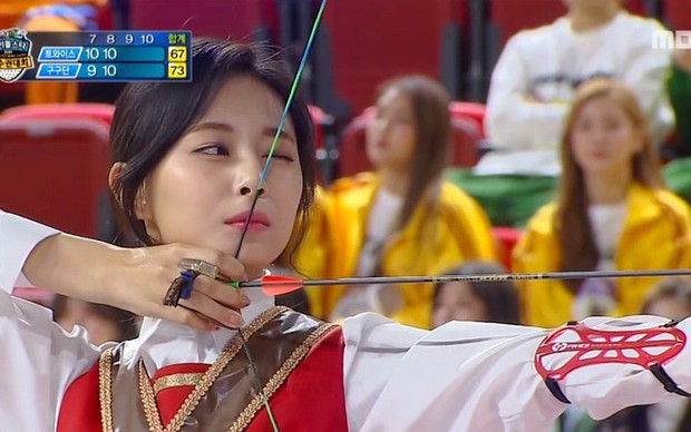 Đại hội thể thao Idol: Tzuyu (TWICE) tiếp tục chứng minh kỹ năng bắn cung thần sầu - Ảnh 4.