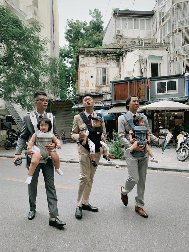 Liên minh 3 ông bố bỉm sữa với toàn những cái tên đình đám ở Hà Thành: Nhìn mà muốn lấy chồng, đẻ con ngay liền luôn á! - Ảnh 2.