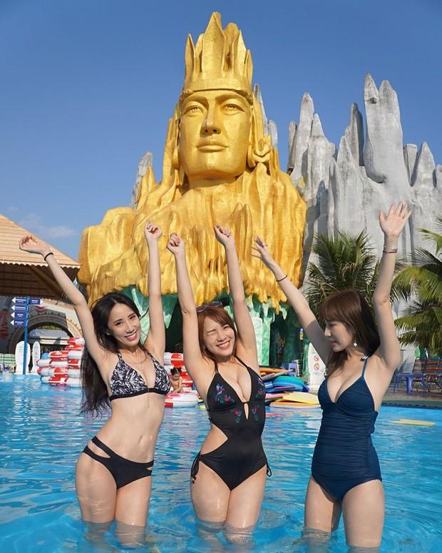 Đăng ảnh bikini sexy ở công viên nước tại Việt Nam, hot girl Đài Loan bất ngờ bị netizen ném đá - Ảnh 3.