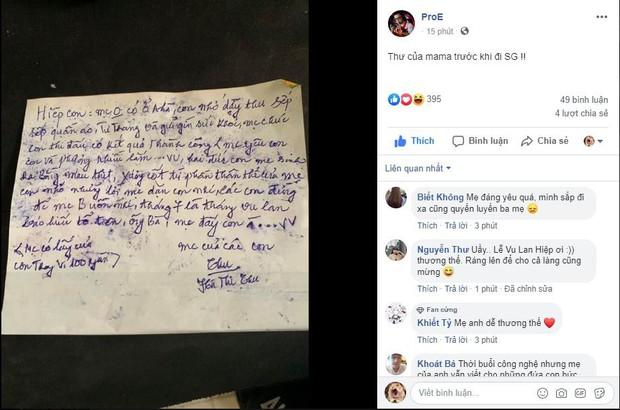 Xúc động với tâm thư mẹ của nhà vô địch AWC gửi cho con trước lúc đi Sài Gòn thi đấu loạt trận tuyển chọn SEA Games 30 - Ảnh 1.
