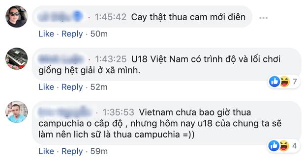 U18 Việt Nam thua sốc, fan lập tức mỉa mai: U18 phá kỷ lục lần đầu tiên thua Campuchia ở cấp đội tuyển - Ảnh 2.