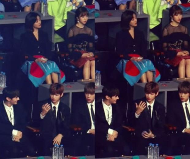 Xem lễ trao giải lại lộ thêm bằng chứng yêu đương giữa Kang Daniel và Jihyo (TWICE): Chàng lấy gương soi nàng giữa thanh thiên bạch nhật? - Ảnh 3.