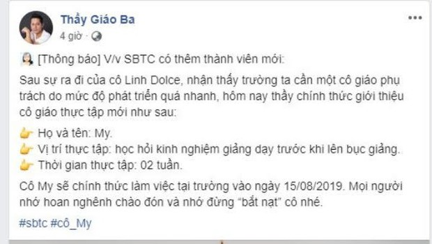 Cô giáo mới của Team SBTC chính thức lộ diện, hóa ra tất cả tin đồn trước đó chỉ là một cú lừa - Ảnh 1.