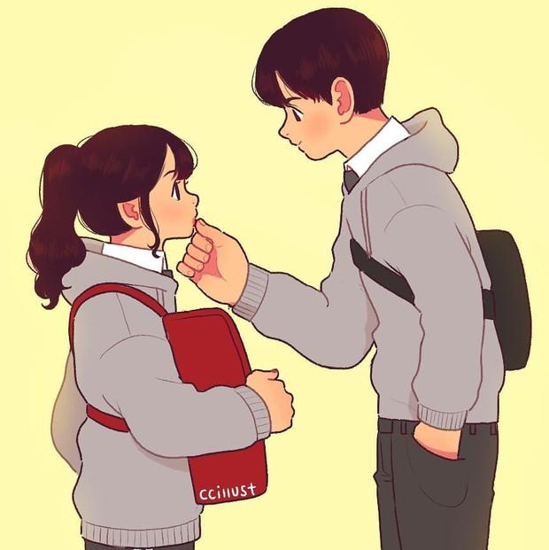 Có crush hồi đi học chính là trêu nhau cho đã nhưng rồi vô tình ánh mắt chạm nhau là ngượng ngùng - Ảnh 3.