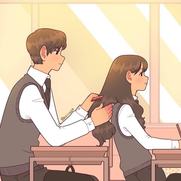 Có crush hồi đi học chính là trêu nhau cho đã nhưng rồi vô tình ánh mắt chạm nhau là ngượng ngùng - Ảnh 9.