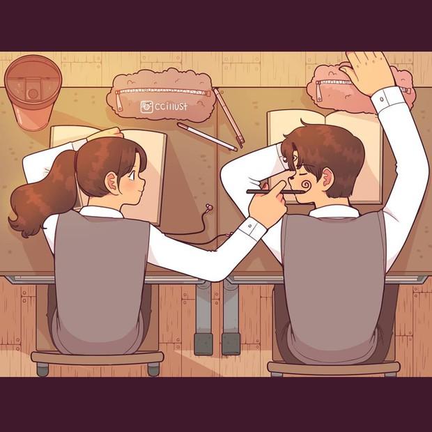 Có crush hồi đi học chính là trêu nhau cho đã nhưng rồi vô tình ánh mắt chạm nhau là ngượng ngùng - Ảnh 13.
