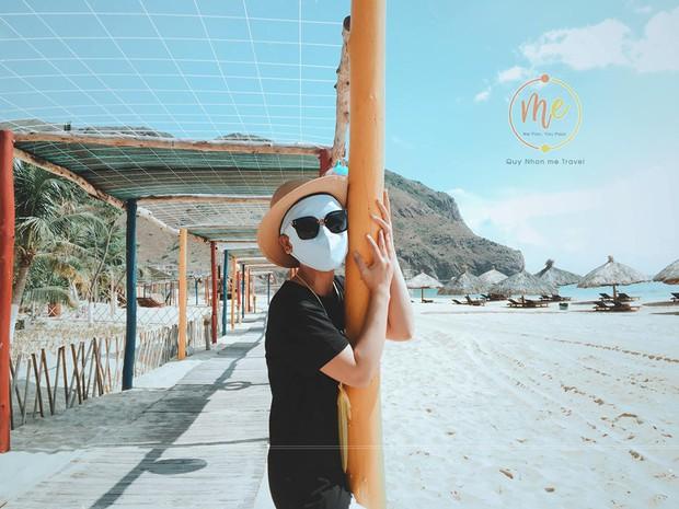Về vùng biển vắng mà lại sợ cháy nắng, cô bạn tính hay cho ra đời bộ ảnh du lịch theo phong cách ninja khiến dân tình cười xỉu! - Ảnh 3.