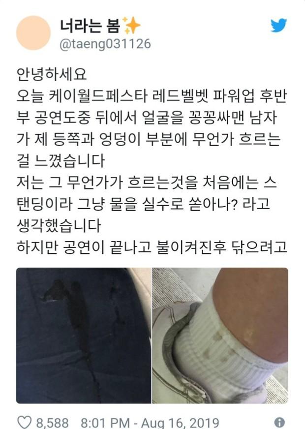 Sốc với trải nghiệm kinh hoàng của fangirl khi đi concert: Bị fan nam Red Velvet bị quấy rối tình dục bằng cách bệnh hoạn - Ảnh 1.