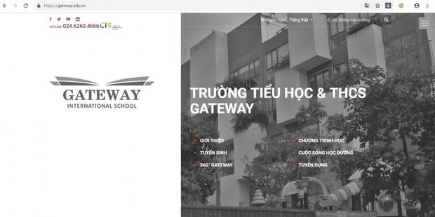 Trang chủ website trường Gateway được đổi từ