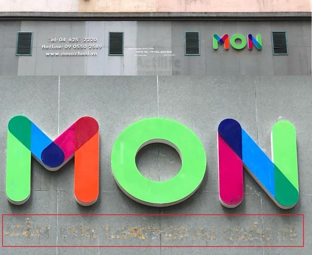 Dòng chữ International Montessori School bị xóa sạch.