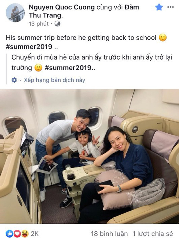 Chuyến du lịch đầu tiên của vợ chồng Cường Đô La - Đàm Thu Trang sau đám cưới, Subeo vô cùng hào hứng trước khi quay lại trường học! - Ảnh 1.