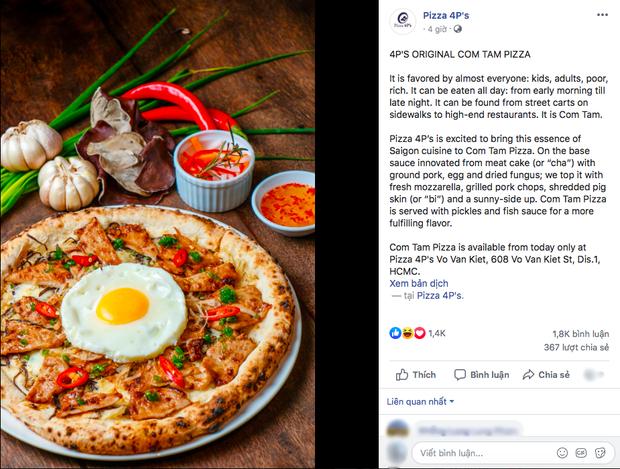 Sau phiên bản bún đậu mắm tôm, Pizza 4Ps một lần nữa khiến bà con suy nhược với pizza... cơm tấm sườn bì chả trứng!  - Ảnh 2.