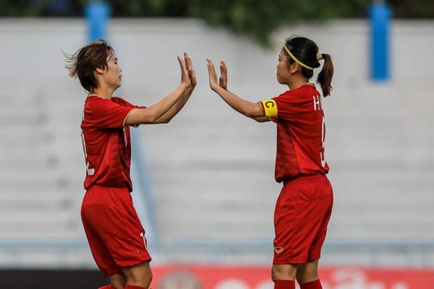 Tuyển nữ Việt Nam tung 50% sức mạnh vẫn thắng nhàn 7-0 trước Indonesia - Ảnh 1.