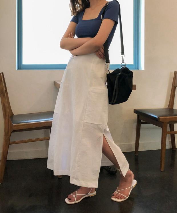 Chân váy dài chắc suất trong danh sách những item hot nhất mùa thu 2019 và 3 cách diện không lo dìm dáng - Ảnh 9.