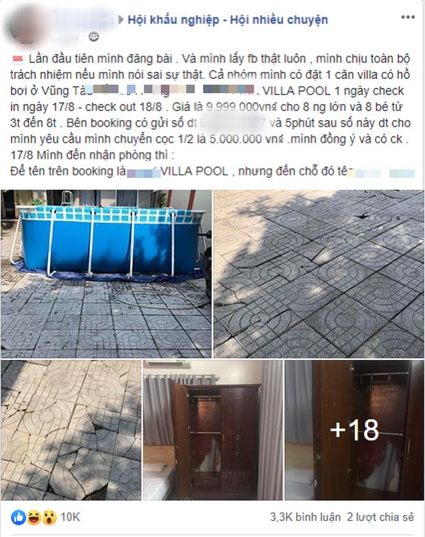 Đặt cọc 5 triệu đồng thuê pool villa ở Vũng Tàu qua mạng, khách nữ bức xúc khi nhận về căn nhà xập xệ thua xa phòng trọ - Ảnh 1.