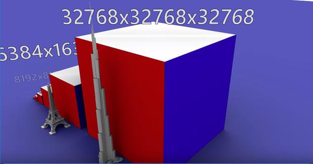 Xem máy tính xoay Rubik khổng lồ hoa cả mắt: 6 tỷ ô màu, cao ngang tòa Burj Khalifa, tốn 2706 tiếng để giải - Ảnh 1.