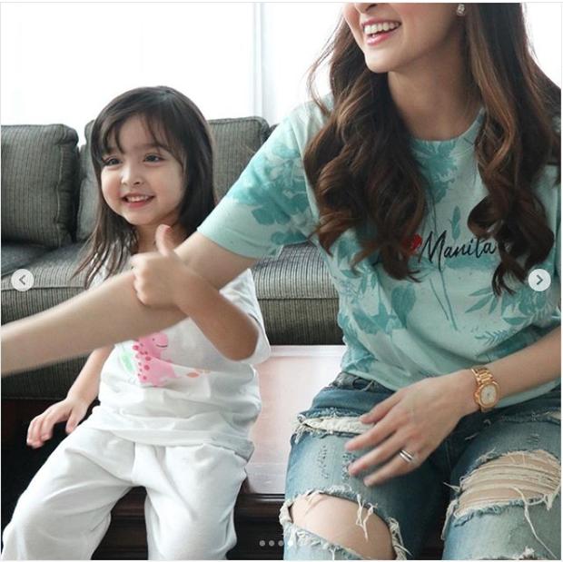 Góp mặt trong ảnh hậu trường, con gái mỹ nhân đẹp nhất Philippines được khen xinh hơn cả mẹ - Ảnh 2.
