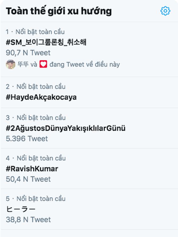 Boygroup siêu khủng chưa thấy đâu mà cổ phiếu SM đã giảm mạnh, hashtag kêu gọi huỷ debut đứng đầu top trending toàn cầu - Ảnh 2.