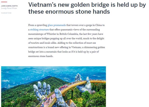 Đúng 1 năm trước, Cầu Vàng Đà Nẵng vừa xuất hiện đã trở thành hiện tượng làm dậy sóng báo chí và cả MXH quốc tế - Ảnh 13.