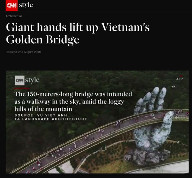 Đúng 1 năm trước, Cầu Vàng Đà Nẵng vừa xuất hiện đã trở thành hiện tượng làm dậy sóng báo chí và cả MXH quốc tế - Ảnh 4.