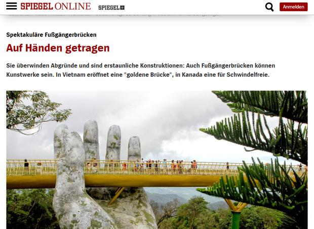 Đúng 1 năm trước, Cầu Vàng Đà Nẵng vừa xuất hiện đã trở thành hiện tượng làm dậy sóng báo chí và cả MXH quốc tế - Ảnh 7.