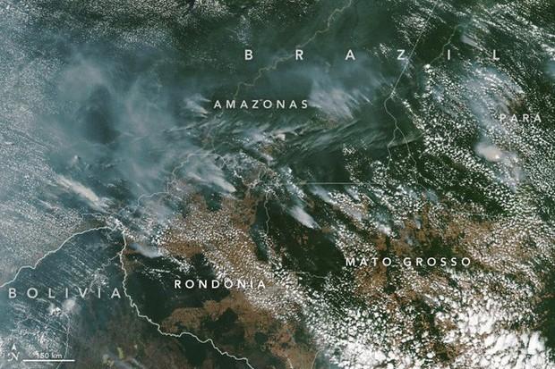 Rừng Amazon cháy lớn, khói phủ đen trời ở thành phố cách cả ngàn kilomet, từ trên quỹ đạo cũng nhìn được khói - Ảnh 2.