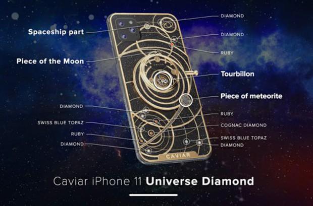 iPhone 11 chưa ra mắt đã có bản siêu độc: Nạm thiên thạch và đá mặt trăng, giá hơn 1 tỷ đồng - Ảnh 2.