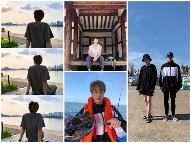 """Đã lâu rồi fan mới thấy BTS có kỳ nghỉ """"healthy và balance"""" đến vậy, bất ngờ nhất là phát hiện ra năng khiếu mới của Jin - Ảnh 1."""