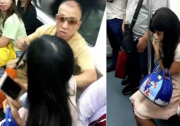 Chửi bới, hành hung cô gái trẻ chỉ để giành chỗ ngồi trên tàu điện ngầm, người đàn ông ăn gạch tới tấp từ cộng đồng mạng - Ảnh 2.