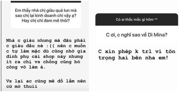 Đây là phản ứng bất ngờ của ái nữ nhà Minh Nhựa khi được hỏi về vợ kế của ba - Mina Phạm - Ảnh 3.