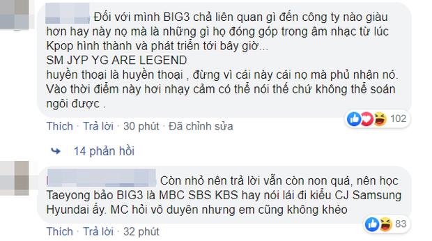 Thành viên NCT Dream gây sốc khi thẳng tay loại YG khỏi Big 3, dân Hàn và netizen Việt phản ứng khác hẳn nhau - Ảnh 4.