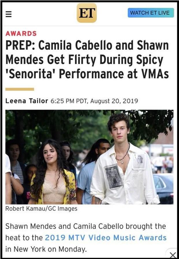 """Chỉ là sự cố hay chiêu trò PR: Shawn Mendes và Camila Cabello còn chưa biểu diễn đã bị lộ kịch bản """"chim chuột"""" tại VMAs 2019 - Ảnh 1."""