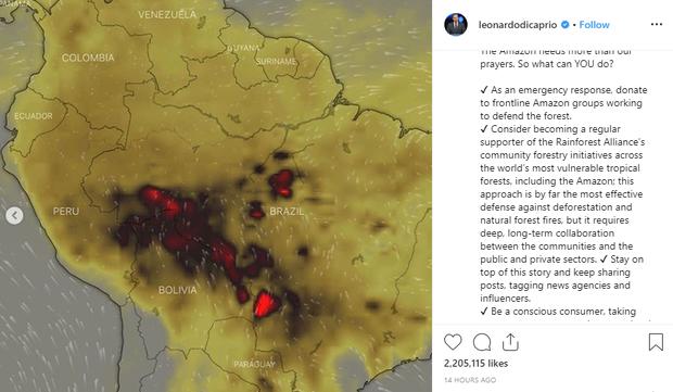 Loạt sao nổi tiếng lên tiếng về vụ cháy rừng Amazon: Justin Bieber, Ronaldo đều hành động, riêng Khloe kêu gọi ngừng ăn thịt bò? - Ảnh 5.