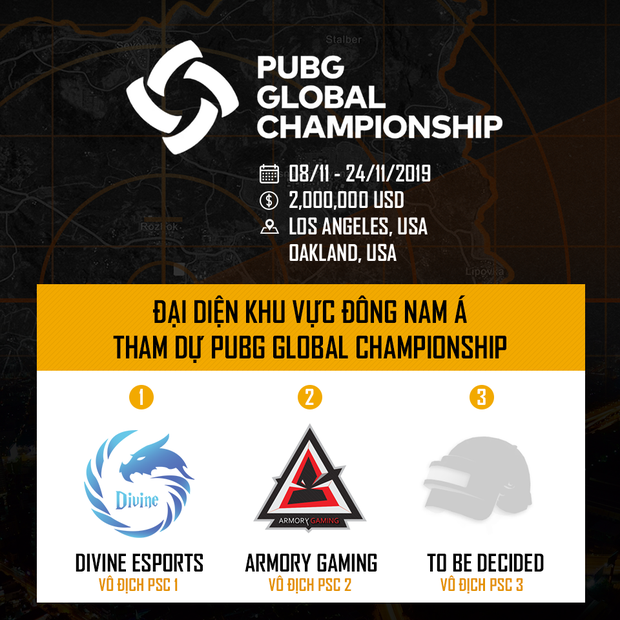 Divine Esports sẽ là cái tên đầu tiên của Việt Nam góp mặt tại giải đấu PUBG lớn nhất hành tinh PUBG GLOBAL CHAMPIONSHIP 2019 - Ảnh 1.