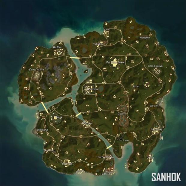 Mini map Sanhok sẽ là map tiếp theo được đưa vào các giải đấu chuyên nghiệp của PUBG, hứa hẹn giao tranh nhiều và ác liệt hơn - Ảnh 2.