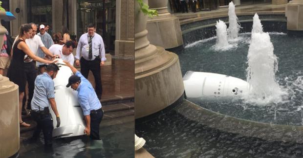 Một con robot cũng tự tử tại đài phun nước công cộng, có lẽ vì công việc quá áp lực? - Ảnh 1.