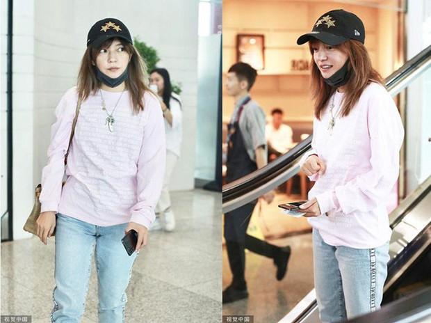 Triệu Vy bị chê luộm thuộm như bà thím tại sân bay: nguồn cơn chỉ vì kiểu tóc - Ảnh 1.