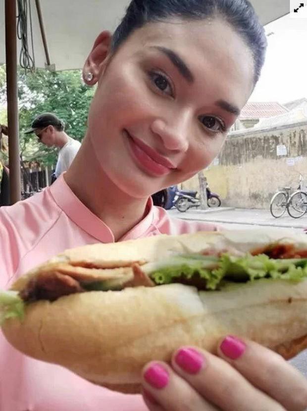 Hoa hậu Hoàn vũ Pia Wurtzbach tới Hội An xếp hàng mua bánh mì Phượng, khoe món bánh Pía từng bị dân mạng chế ảnh hồi mới đăng quang - Ảnh 5.